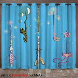 RenteriaDecor 0utdoor Curtains for Patio Waterproof Decorati