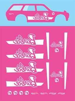 Hot wheels 1/64 Water Slide Decals DATSUN 510 WAGON BARBIE 0