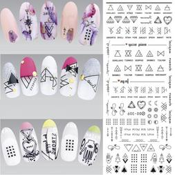1 Sheet Geometric <font><b>Water</b></font> Decals Nail Art