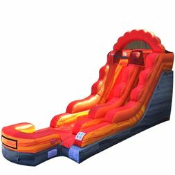 13.5'H Fire Marble Commercial Inflatable Kids Water Slide Ju