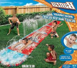 Banzai 16 Ft Breakthrough Blast Water Slip Slide Sprinkler T