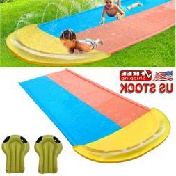 16 FT Lawn Water Slides Slip Slide Play Center W/ Sprinkler