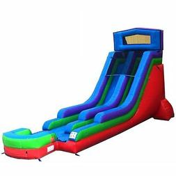 18' Retro Wet-Dry Inflatable Bouncer Water Slide Commercial