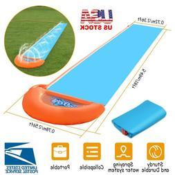 18ft Kids Inflatable Water Slide Single Slip Backyard Play F