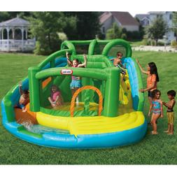 Little Tikes Wet Dry Waterslide Bouncer Summer Water Outdoor