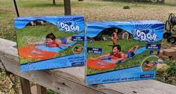 2 NEW SINGLE 18 ft Super Water Slip N Slide w/ Drench Pool &