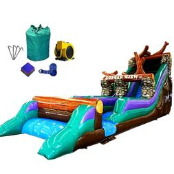 21'H Wild Rapids Commercial Inflatable Big Water Slide Jumpe