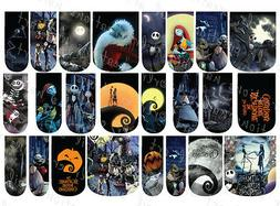 24 WATER SLIDE NAIL ART DECALS * NIGHTMARE BEFORE CHRISTMAS