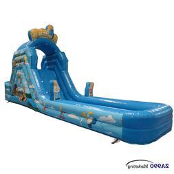 26×6.6×13ft Inflatable Water Pool & Slide Castle Bouncy Ho