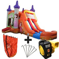 28ft Princess Wet/Dry Commercial Inflatable Bounce House Wat