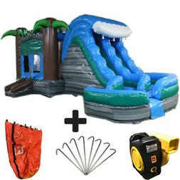 29ft Tropical Helix Wet/Dry Commercial Inflatable Bounce Hou