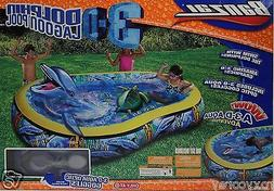 Banzai 3-D Dolphin Lagoon Adventure Pool with 3-D Aqua Optic