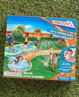 Banzai 3-in-1 Aqua Water Drench Splash Park w/ Water Slide &