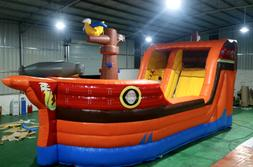 30x15x15 Commercial Inflatable Pirate Ship Water Slide Bounc