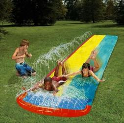 4.8m Giant Surf 'N Double Water Slide Inflatable Lawn Play C