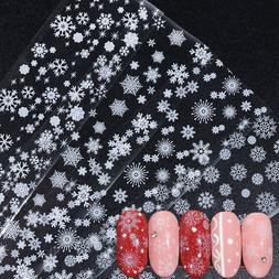 4 pcs holographic nail foil winter christmas