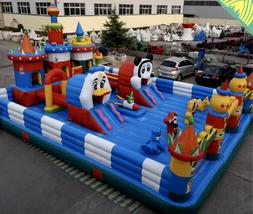 40x30x15 commercial inflatable water slide house obstacle