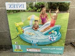 Intex 57165EP Gator Outdoor Inflatable Kiddie Pool Water Pla