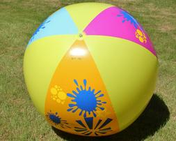 "66"" Super-Size BANZAI Inflatable SPLASH Beach Ball - HUGE Gl"