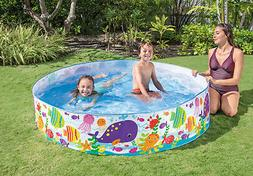 6ft x 15in Snapset Small Kids Pool Backyard Water Toys Pet D