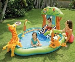 "Intex 85"" X 74"" X 49"" Jungle Play Center Inflatable Po"