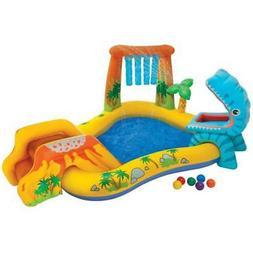 Intex 8ft x 6.25ft x 43in Dinosaur Play Center Inflatable Ki