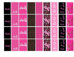 """90 Barbie Water Slide Decals """"Be A Barbie Girl """" Nail Decora"""