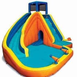 Banzai 23524 Sidewinder Falls Inflatable Water Slide with Tu