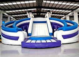 99x50x30 Bouncy Castle Jumping Inflatable Water Slide Park T