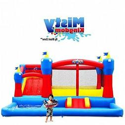 Blast Zone Misty Kingdom Inflatable Bouncer - Water Park wit