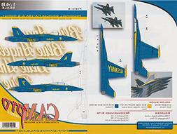 CAMP48018 1:48 CAM Pro Decals - F-18A F-18B Hornet Blue Ange