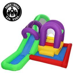 Cloud 9 Wet 'n' Slide Bounce House - Inflatable Bouncer Comb