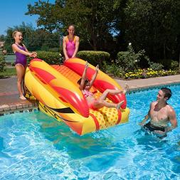 "92"" Orange, Yellow and Black Aqua Fun Inflatable Aqua Launch"
