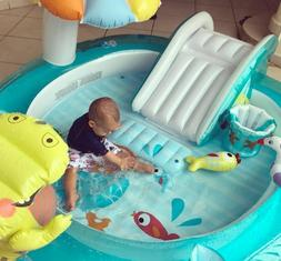 Baby Lagoon Inflatable Play Swimming Pool for Kids Water Sli