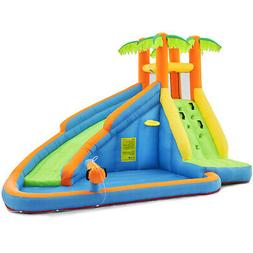 Backyard Inflatable Bouncing Water Park Slide Water Cannon S