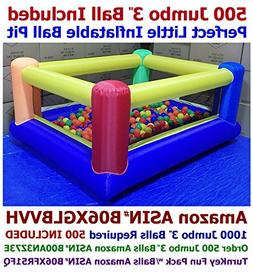 BALLS INCLUDED - My Bouncer Perfect Little Ball Pit Great fo