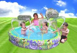 Banzai Spray N Splash Jungle Fun Pool Inflatable Swimming Wa