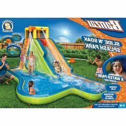 Banzai Slide N Soak Splash Park Kids Inflatable Outdoor Back