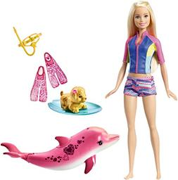 Barbie Dolphin Magic Snorkel Fun Friends Playset
