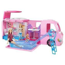 Barbie Dreamcamper Rv, Campsite, And Pool Fold-out Playset W