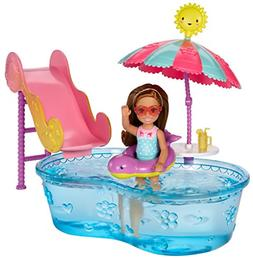 BarbieClub Chelsea Pool and Water Slide Playset