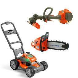 Husqvarna Battery Powered Kids Toy Lawn Mower, Lawn Trimmer,