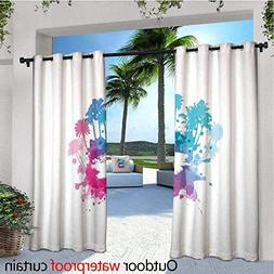 Beach Outdoor Privacy Curtain for Pergola Palm Trees with Co