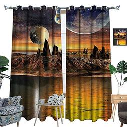luvoluxhome Bedroom Curtains Blackout Draperies Panel Curtai