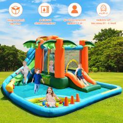BEST Inflatable Bounce House Kids Water  Pool Dual Slide Jum