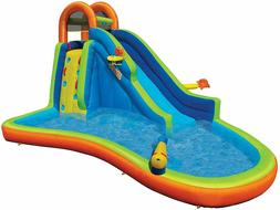 Banzai Big Blast Water Park Inflatable Slide Sports Basket T