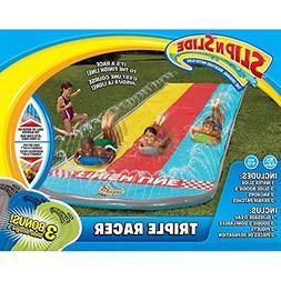 Inflatable Slip N Slide Kids This Big Triple Racer Kiddie Bl