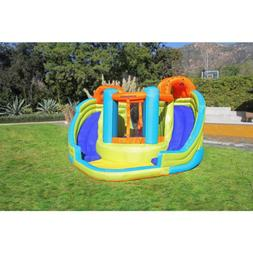 Bounce House Inflatable Water Double Slide Water Splash with
