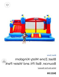 bouncer and waterslide