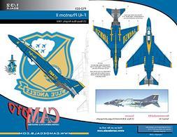 CAMP32023 1:32 CAM Pro Decals - F-4J Phantom II Blue Angels